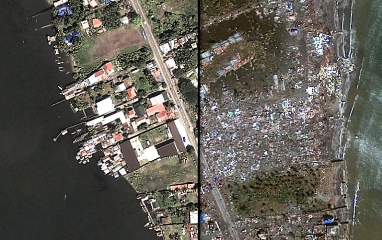 Tacloban City, Before and after Haiyan • ABC News